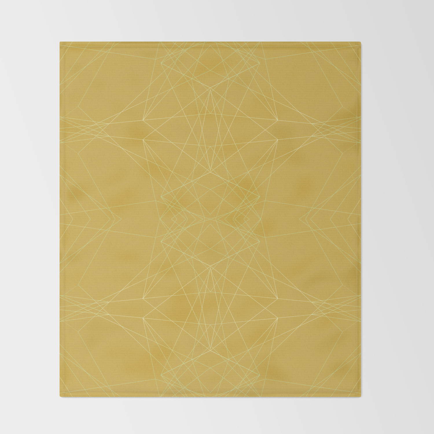 Light Lines Ensemble Ceylon Yellow Throw Blanket