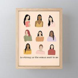 Strong Women Feminist Framed Mini Art Print