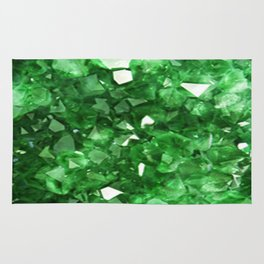EMERALD GREEN CRYSTALS  MAY BIRTHSTONE Rug