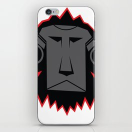 Dark Lion Log iPhone Skin