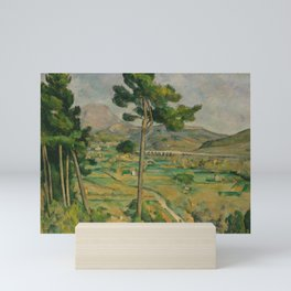 "Paul Cezanne ""Mountain Sainte-Victoire and the Viaduct of the Arc River Valley"" Mini Art Print"