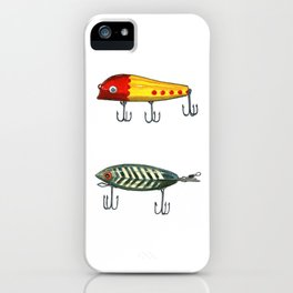 Vintage Fishing Lures 3 iPhone Case