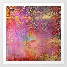 Boho Rose Art Print