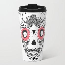 sugar skull mask Travel Mug
