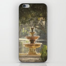 Fountain at the Pergola iPhone Skin
