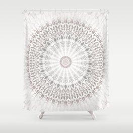 Taupe Mandala Shower Curtain