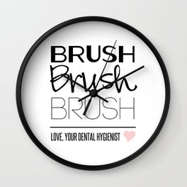 Brush Brush Brush Wall Clock