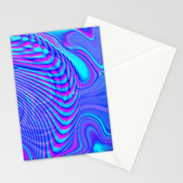 GLITCH MOTION WATERCOLOR OIL Stationery Cards