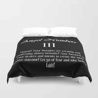 angel Duvet Covers featuring angel by GalaxyDreams