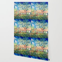 Springtime at Giverny Wallpaper
