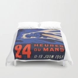 Le Mans 1955, 24hs Le Mans, 1955, original, vintage poster Duvet Cover