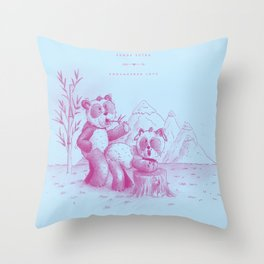 Endangered Love - Panda Sutra Throw Pillow