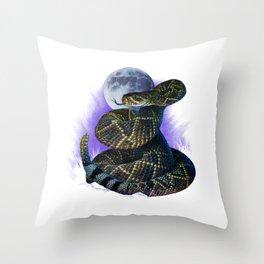 Moonlight Diamondback Throw Pillow