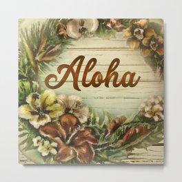 Vintage Aloha Painting Metal Print