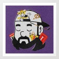 kevin russ Art Prints featuring Kevin by Derek Eads