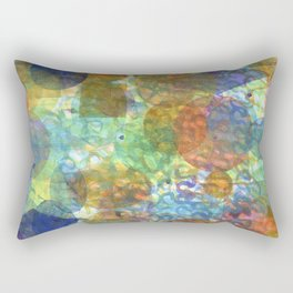 Bubbling Geometric Forms over Curved Lines  Rectangular Pillow