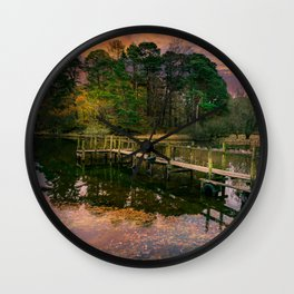 Lakeside Launch Wall Clock