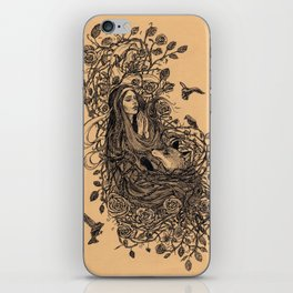Lady and the fox iPhone Skin