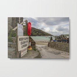 Port Isaac Harbour Metal Print