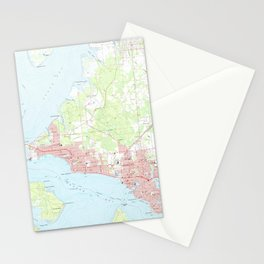 Vintage Map of Panama City Florida (1956) Stationery Cards