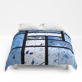 Movin with Pollock, Mondrian & Haring  Comforters