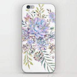 succulent watercolor 7 iPhone Skin