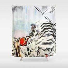 Burn Barrel Shower Curtain