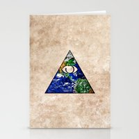 all seeing eye Stationery Cards featuring All Seeing Eye by Spooky Dooky