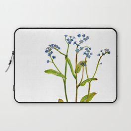 Forget-me-not flowers watercolor art Laptop Sleeve