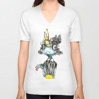 frog V-neck T-shirts featuring frog by krigkou petroula