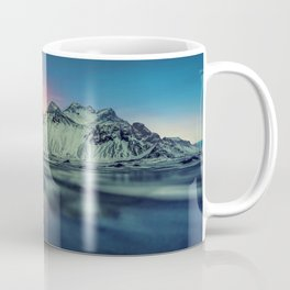 Beautiful Sunset At Vestrahorn Mountains Stokksnes Iceland Ultra HD Coffee Mug