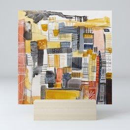 Autumn Rituals Abstract Painting Mini Art Print
