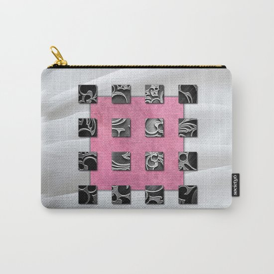 SQUARE AMBIENCE - White Satin Carry-All Pouch