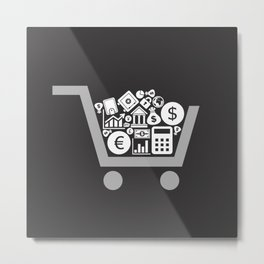 Business a cart Metal Print