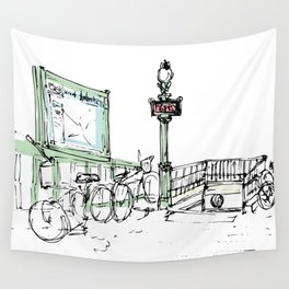Sketches from Paris 07 Wall Tapestry