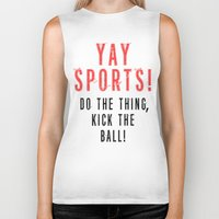 sports Biker Tanks featuring SPORTS BALL by Tayler Smith