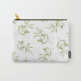 olive branch pattern design - white Carry-All Pouch