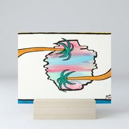 Sideways Palmtrees Mini Art Print