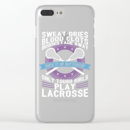 Buttercup Tough Girls Lacrosse Gift Clear iPhone Case