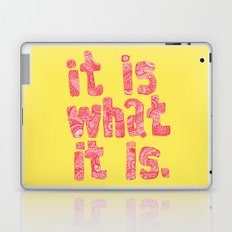 What It Is Yellow Laptop & iPad Skin