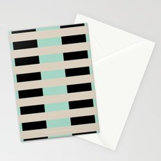 Tan Black Mint Checkerboard Stationery Cards