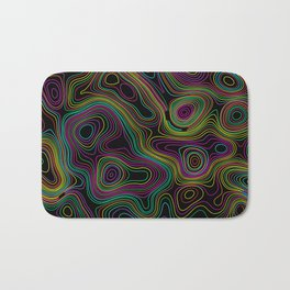 Abstract topographic style background Bath Mat
