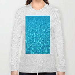 Swimming pool water sun reflection. Ripple Water. Long Sleeve T-shirt