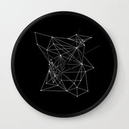 Black Geometric Dots and Lines Wall Clock