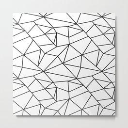 Geometrical modern black abstract wondrous pattern Metal Print