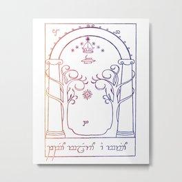 speak friend and enter in elvish Metal Print