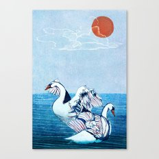 Swan Blues Canvas Print