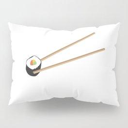 Sushi roll with chopsticks Pillow Sham