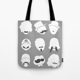 Famous Moustaches grey Tote Bag