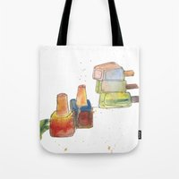 nail polish Tote Bags featuring Nail Polish by Alia